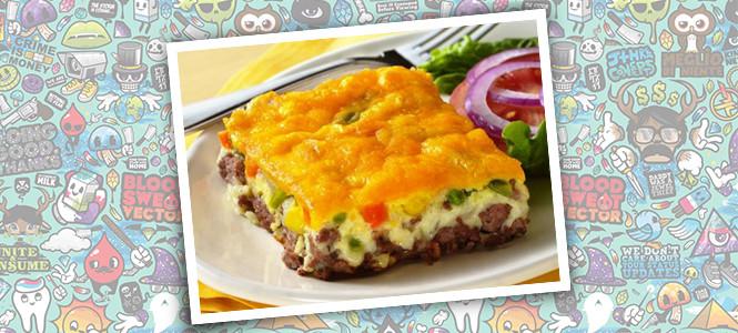 Torta de Cheeseburger